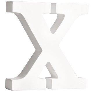 MDF- Buchstabe X, weiß, 11cm, Stärke 2cm