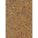Korkstoff Granulat gerollt, 45x30cm, nat./bunt, 0,5 mm ,...
