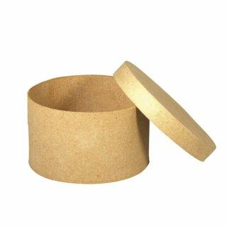 Pappmaché Schachtel FSC Recycled 100%, rund, 6cm hoch, 8cm ø