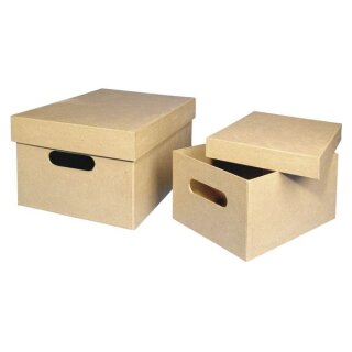 Pappmaché Sammelbox, FSC Recycled 100%, 35x25x17,5cm
