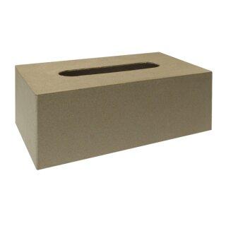 Pappm.-Box f.Kosmetiktücher,FSC Rec.100%, 23,5x12x8cm, mit Boden