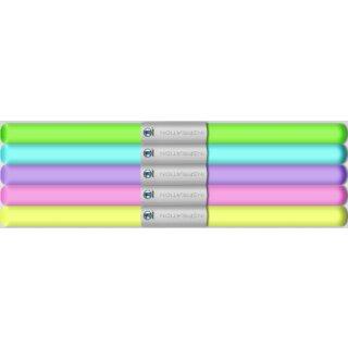 Transparentpapier in 5-Pastell farben, 115 g/qm, 5 Rollen, 50 x 61 cm