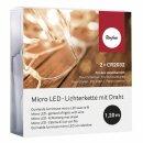 Micro LED-Lichterkette mit Draht, 120cm, 10 Lichter,...