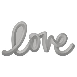 Embossing-Stanzer: Love, 3,2x1,5cm, SB-Blister 1Stück