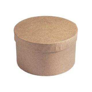 Pappmaché Schachtel FSC Rec.100%, 14cm ø, 8cm