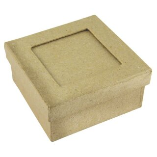 Pappm. Passep.Schachtel FSC Recycled100%, 9x9x4cm, Quadrat