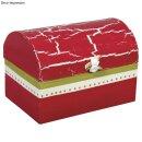 Pappmaché Box: Truhe FSC Recycled 100%, 12x8x7,5cm
