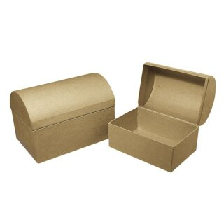 Pappmaché Box: Truhe FSC Recycled 100%, 15x10x10,5cm