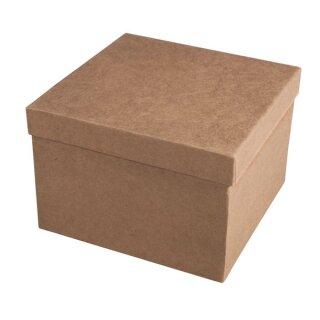 Pappmaché Schachtel FSC Recycled 100%, 15,5x15,5x10,5cm, Quadrat