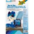 Bastelfilz 150g/qm blau, 10 Blatt, 20 x 30 cm, TON IN TON...