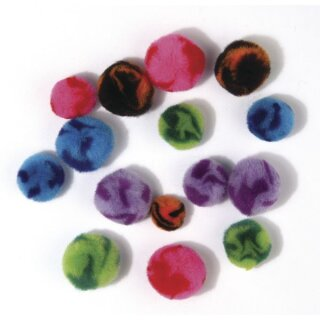 Pompons Candy, SB-Btl. 100 Stück, Farben+Größen sort.
