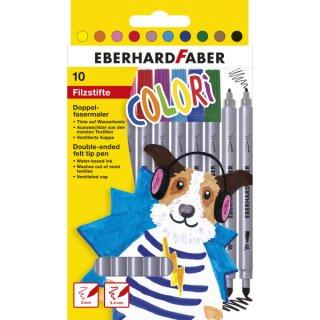 Doppelfasermaler 10 Stifte in 10 Farben sortiert
