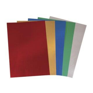 Prägefolien-Mappe, 18,5x29x0,007cm, 5 Farben x 5 Bogen