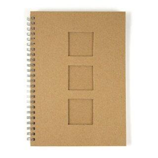 Notizbuch, mit Passepartoutstanzung,HF, 3 Quadrate, DIN A5, 60 Blatt, 70 g/m2