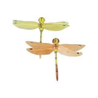 Federlibelle, 9 cm, SB-Btl. 2 Stück, gelb/orange