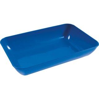 Material/Bastelschale blau aus Kunststoff 23 x 15 x 4 cm