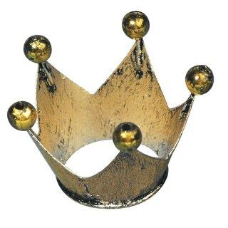 Metall-Krone, 2,5 cm ø, Höhe 2,5 cm