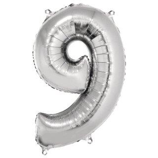 Folienballon Zahl  9