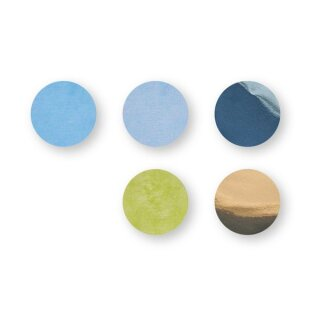Konfetti, 2cm ø, gold,blau,grün, SB-Btl 30g