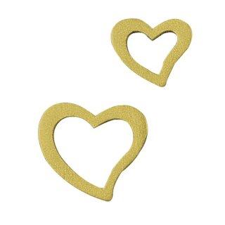 Holzstreuteile: Herzen, 1,5-4 cm