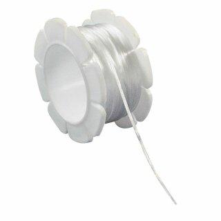 Elastic-Faden, 1 mm, Spule 5 m, weiß