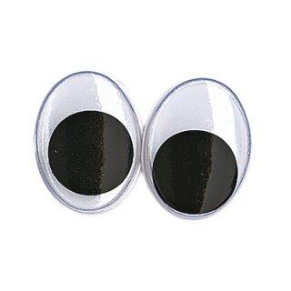 Plastik-Wackelaugen zum Kleben, SB-Btl. 10 Stück, oval, schwarz/weiß, ø 15 mm