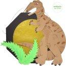 Laternen Bastelset Dino, 4 Stück vorgestanzt