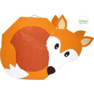 Laternen Bastelset Fuchs, 4 Stück vorgestanzt