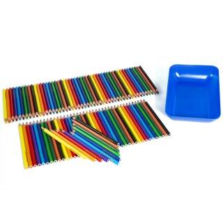 Farbstifte dick 10 x 10er-Set bunt sortiert inkl. Materialschale gratis! von Eberhard Faber