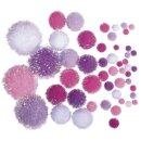 Metallic-Pompons,sortiert, Farben+Größen...