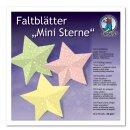 Faltblätter Mini Sterne, 120 Stück, 15 x 15 cm