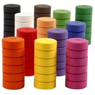 Farbtabletten 72 Stück bunt sortiert Ø 44 mm