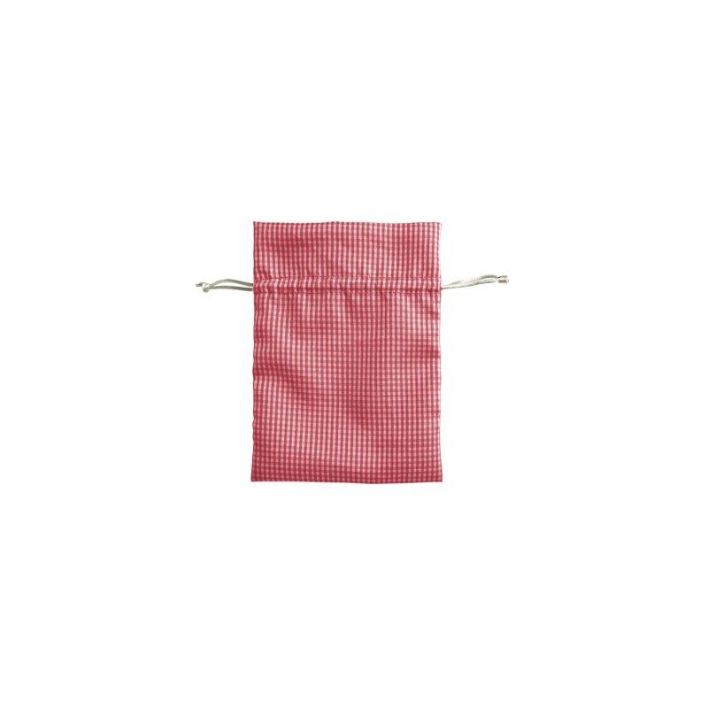 beutel aus stoff rot wei 9 x 12 cm 1 st ck 0 70. Black Bedroom Furniture Sets. Home Design Ideas