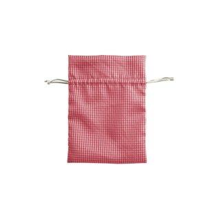 Beutel aus Stoff rot/weiß 9 x 12 cm, 1 Stück