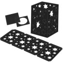 Laternenzuschnitte Sterne 25 Stück schwarz