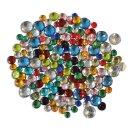 Kristallsteine/Schmucksteine, bunt sortiert, zum Aufkleben