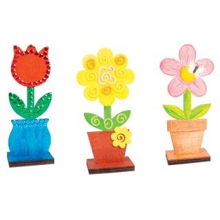 Blumen aus Holz, 3er-Set von beleduc