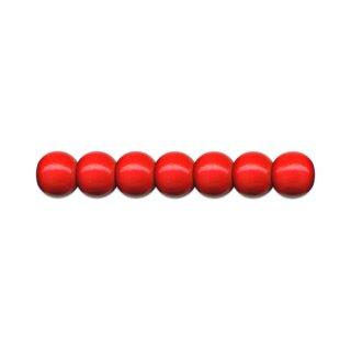 Holzperlen D: 8 mm rot 85 Stück, mit Lochbohrung