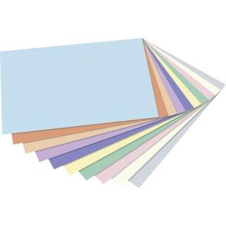 Fotokarton DIN A4 pastell 50 Blatt in 10 Farben sortiert