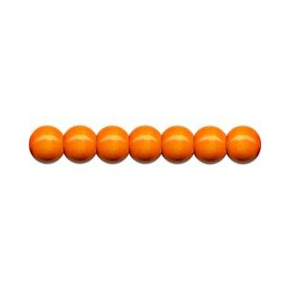 Holzperlen D: 8 mm orange 85 St. mit Lochbohrung
