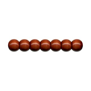 Holzperlen D: 8 mm braun 85 Stück mit Lochbohrung