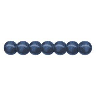 Holzperlen D: 10 mm blau 56 Stück, mit Lochbohrung
