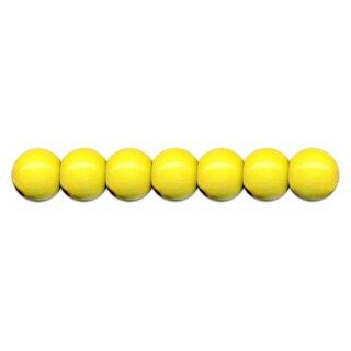 Holzperlen D: 10 mm gelb 56 Stück, mit Lochbohrung