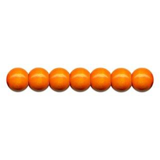 Holzperlen D: 10 mm orange 56 St. mit Lochbohrung