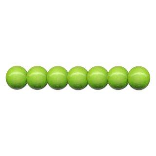 Holzperlen D: 10 mm hellgrün 56St. mit Lochbohrung