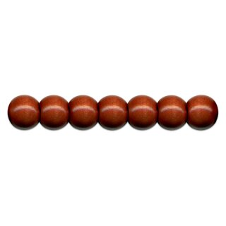 Holzperlen D: 10 mm braun 56 Stück mit Lochbohrung