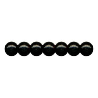Holzperlen D: 10 mm schwarz 56 St. mit Lochbohrung