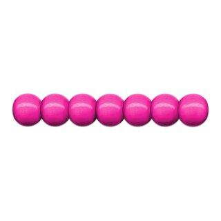 Holzperlen D: 10 mm pink 56 Stück mit Lochbohrung