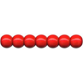 Holzperlen D: 12 mm rot 35 Stück, mit Lochbohrung