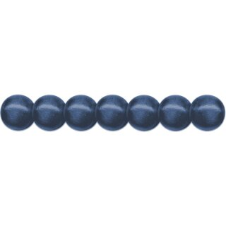 Holzperlen D: 12 mm blau 35 Stück mit Lochbohrung